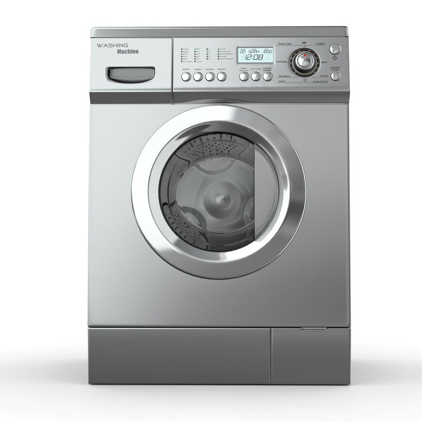 Grey washing machine