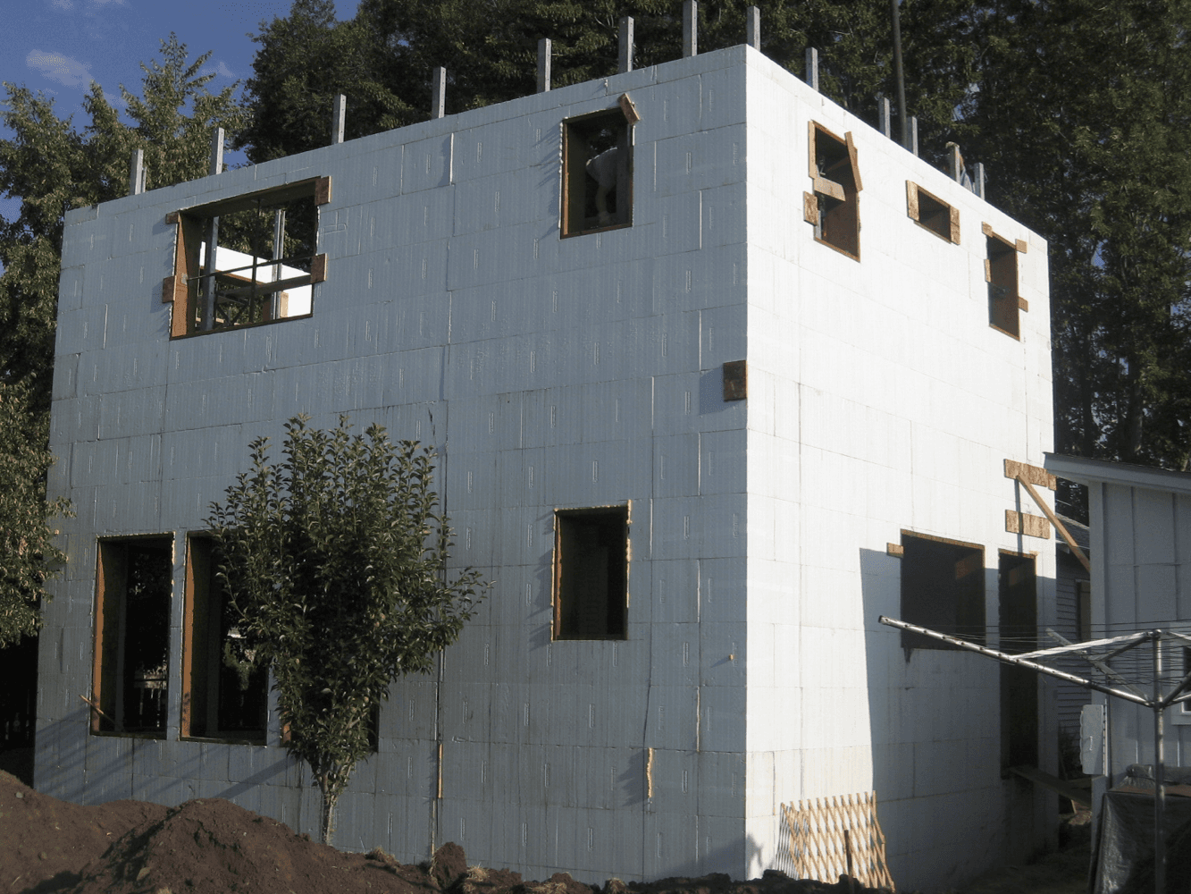Home page of green building products llc for Nudura icf cost