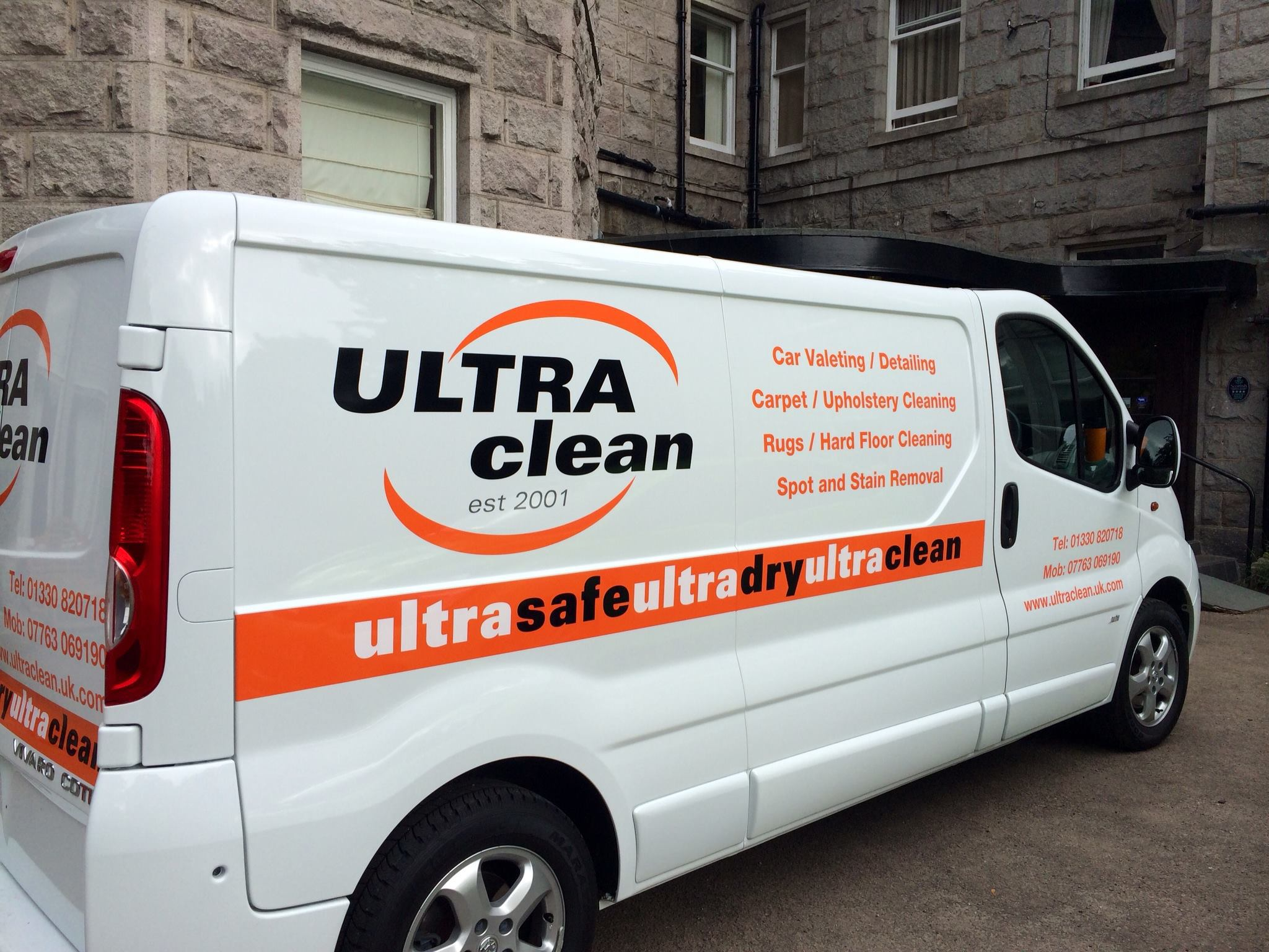 Our upholstery cleaning van in Aberdeenshire