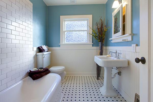 Green blue antique luxury bathroom