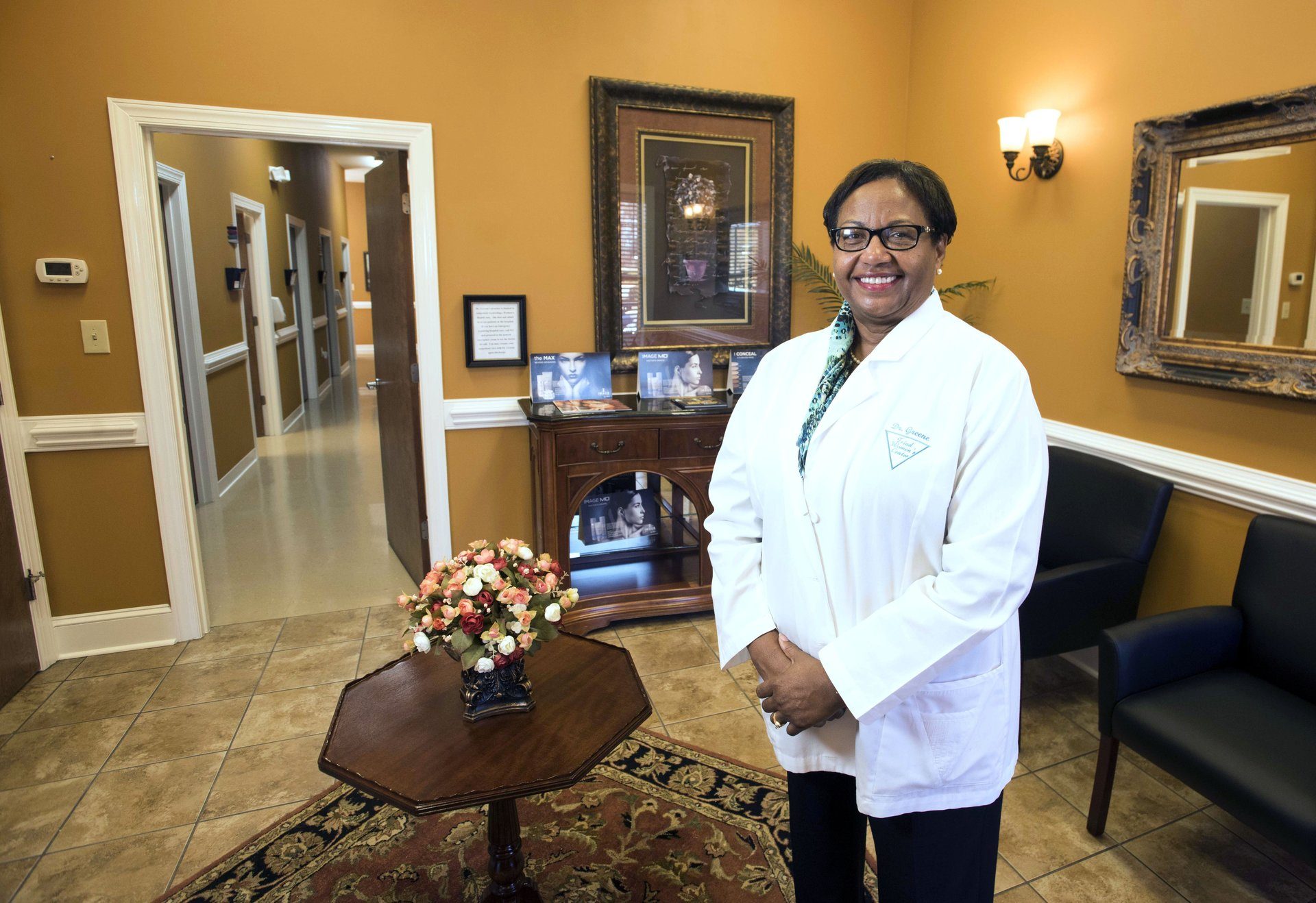 Dr. Greene of women's health center in High Point