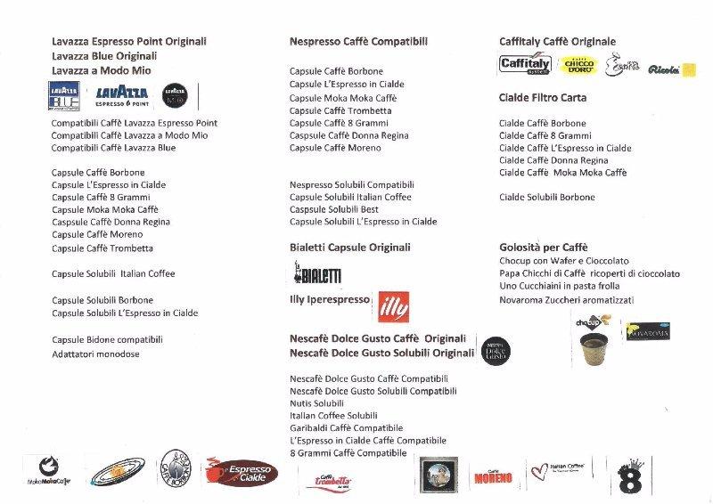 elenco brand di caffè