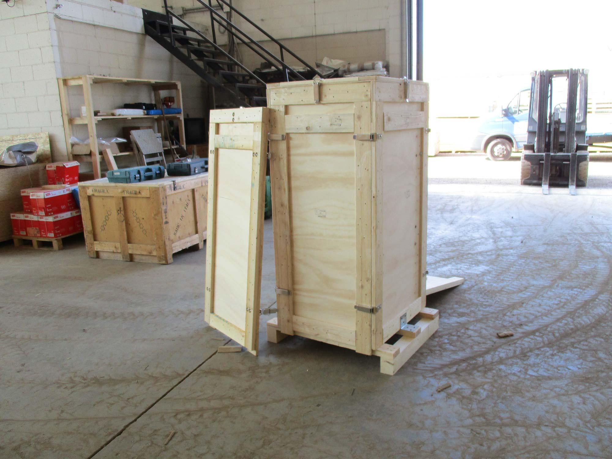 Lavorazione in legno su misura alla ditta Solo Imballaggi in Gerenzano