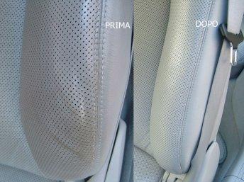pulizia sedile auto