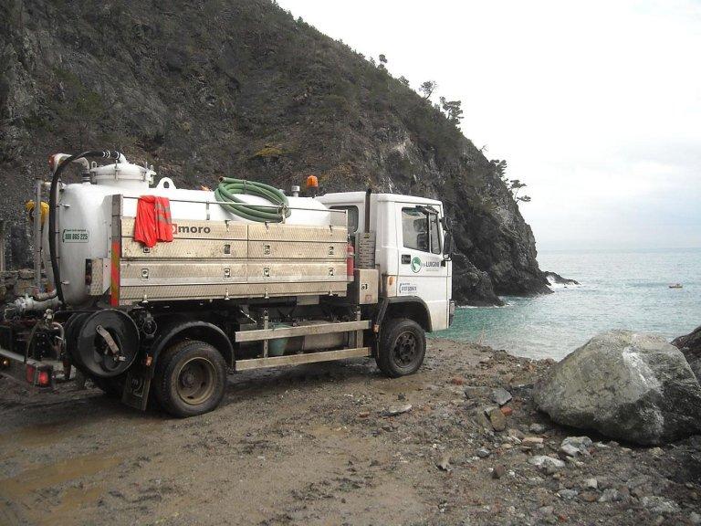 Luigini Ecologia svuotamento fognature La Spezia