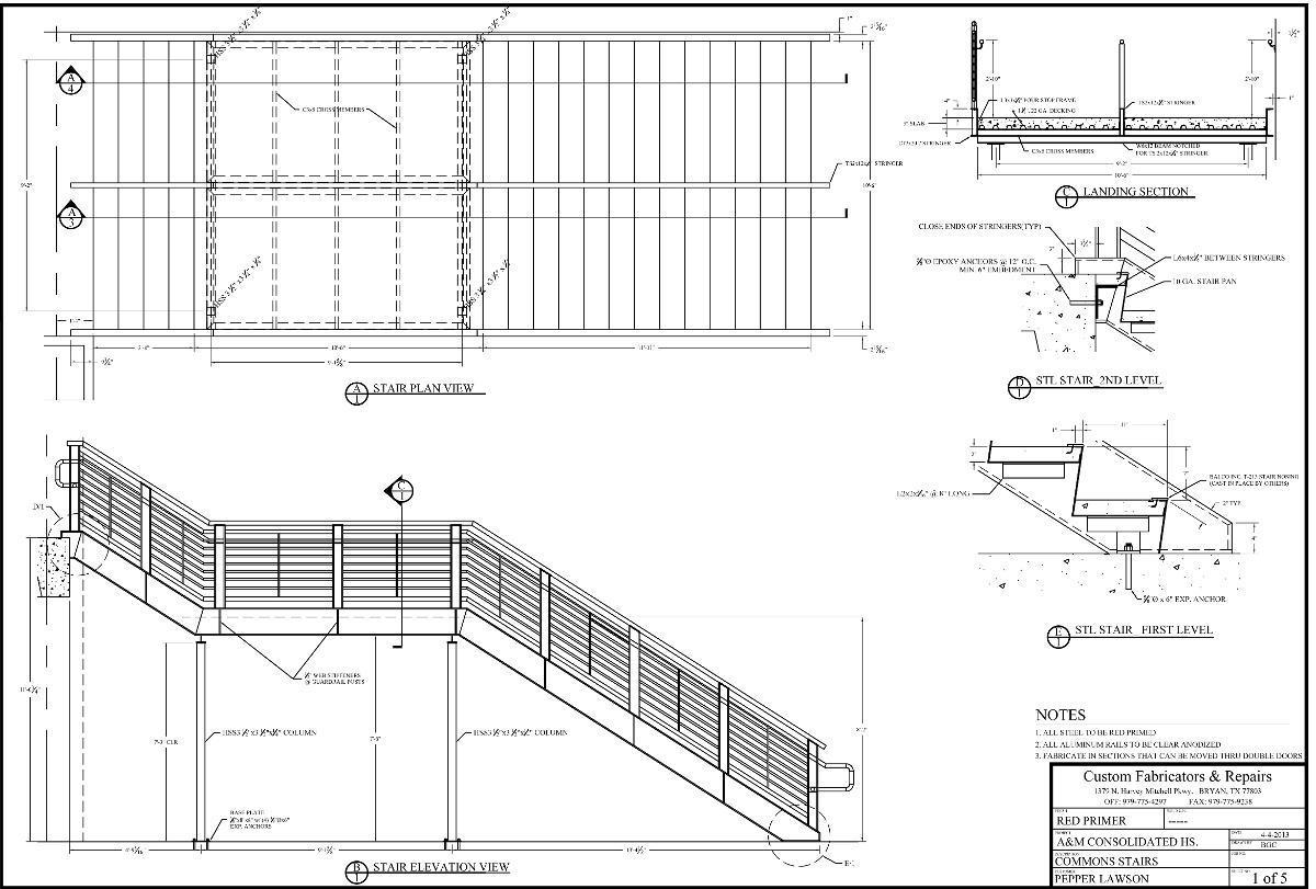 Metal Fabrication Blueprint from Custom Fabricators & Repairs in Bryan, TX