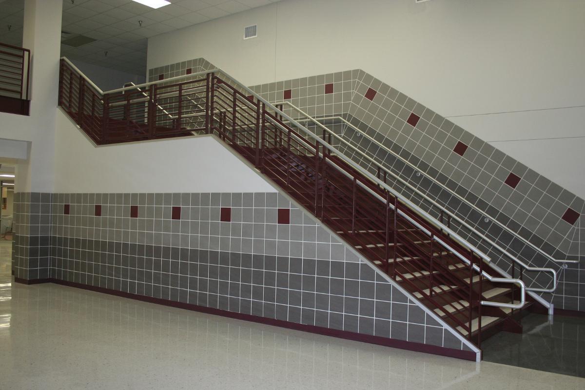 Custom Metal Stairwell in Bryan, TX