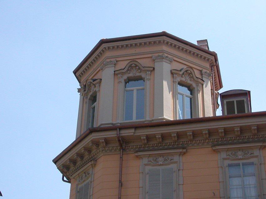 Vista di un palazzo elegante dall'esterno