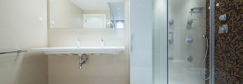 Vista di un box doccia a Favara