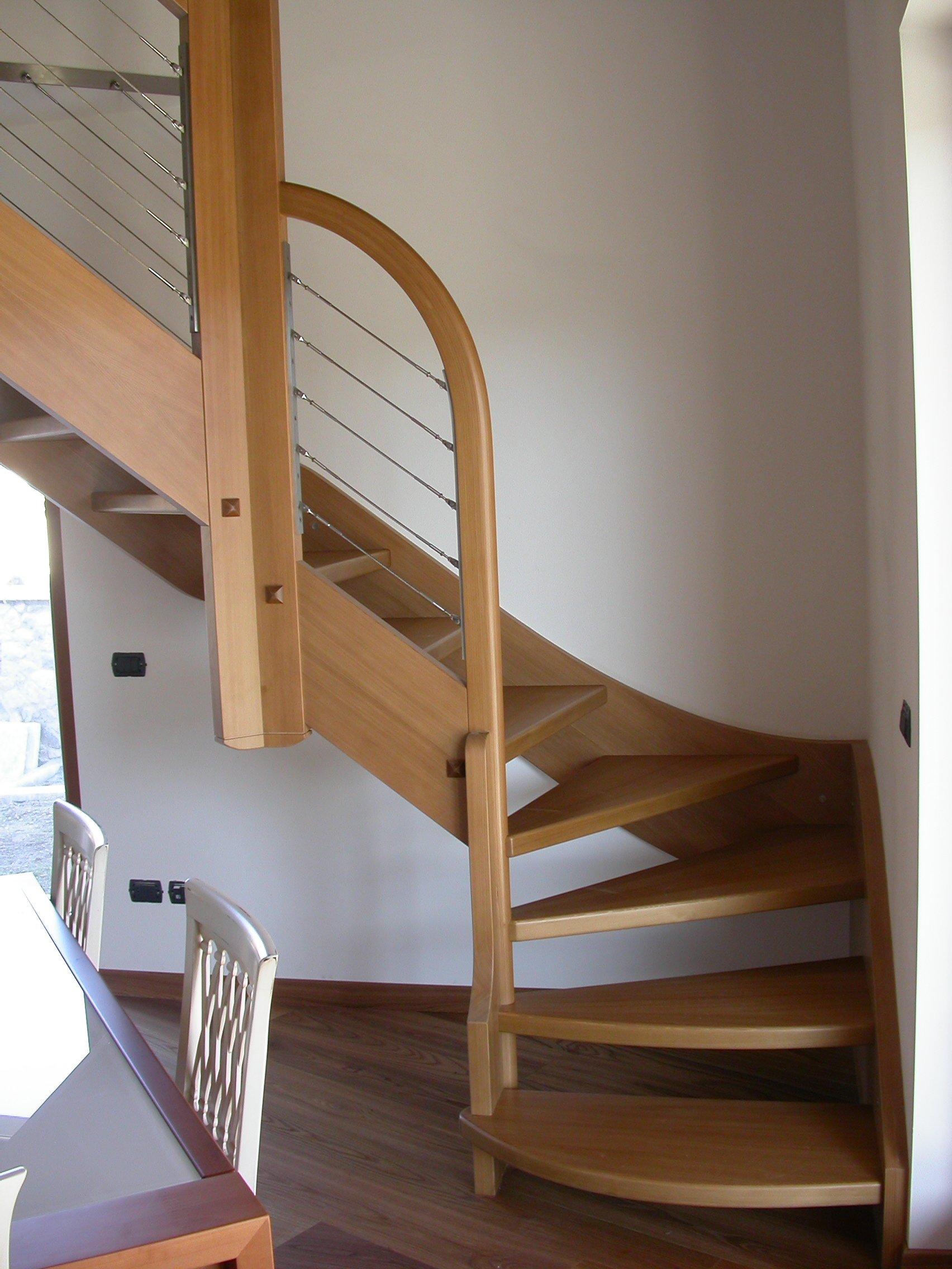 scala in legno e passamano
