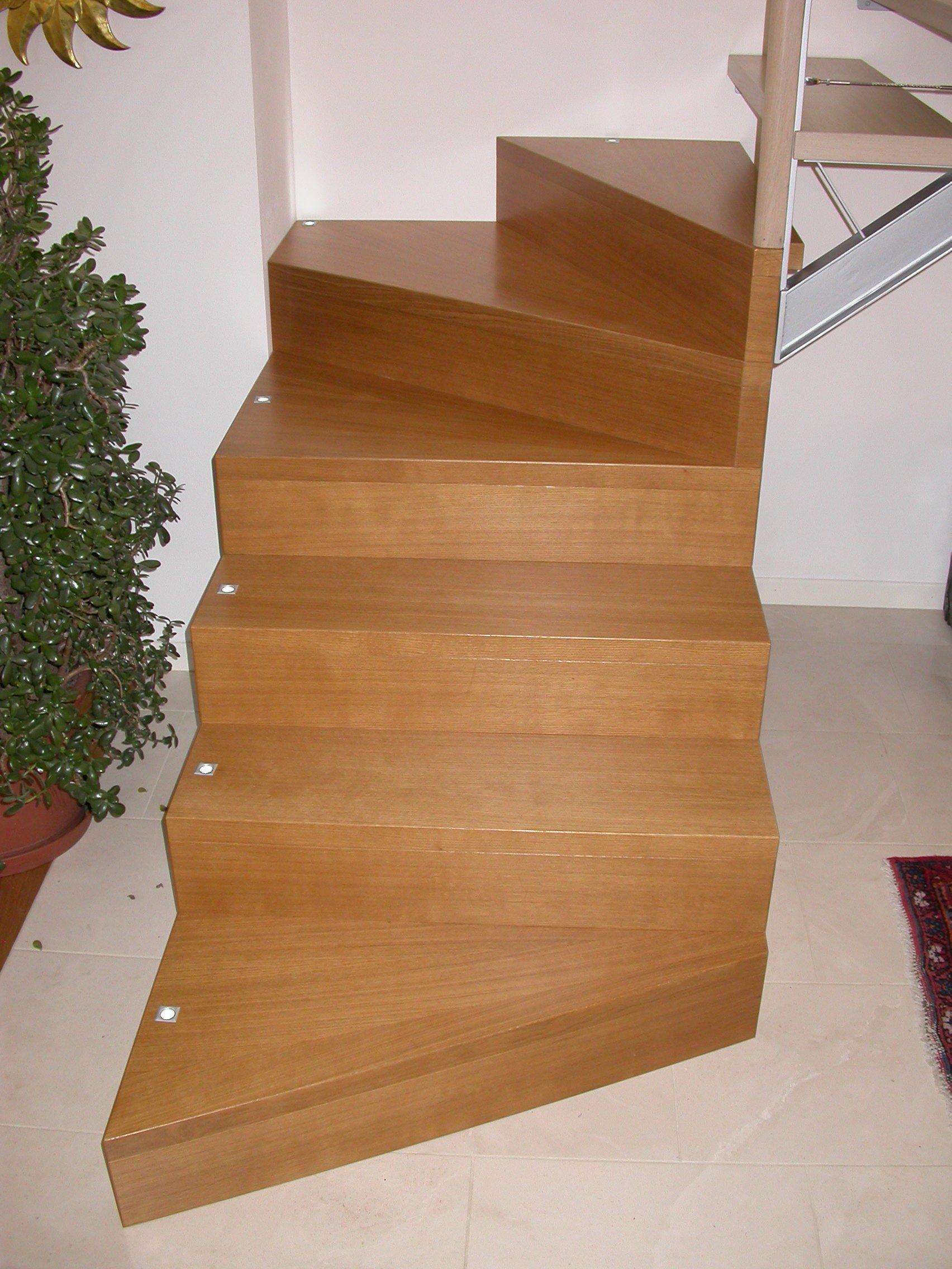 scala in legno e pianta da interno