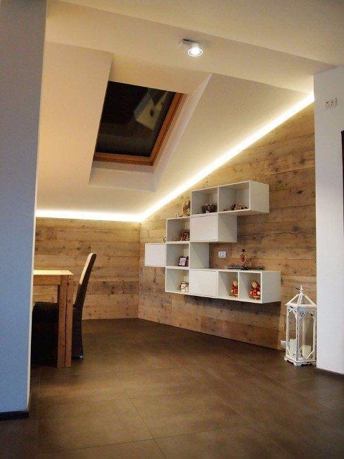 Sala con pavimento in Parquet