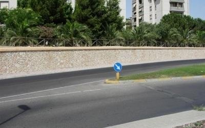 Muro stradale a Cagliari