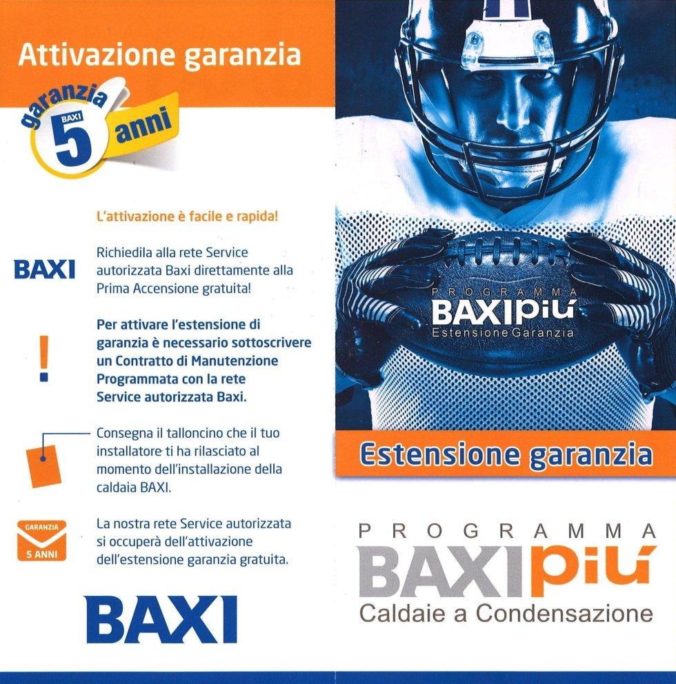estensione garanzia BAXI PIù