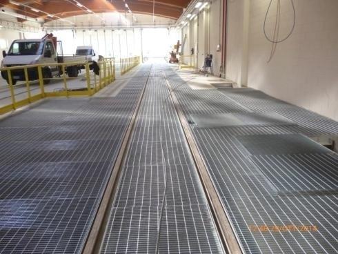 Copertura grigliato fossa manutenzione Deposito  Treni Croviana 2014