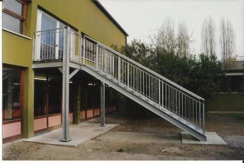 Scala di sicurezza scuola Padova