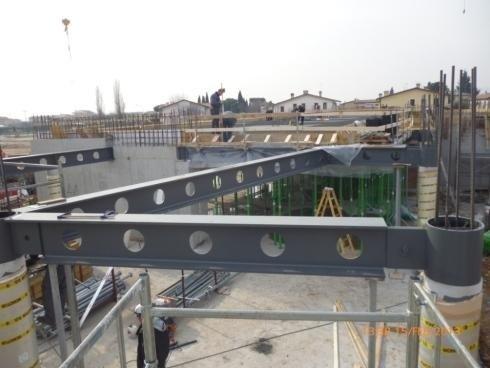 Posa in opera HEB 500-Mubre Bassano del Grappa 01/2013