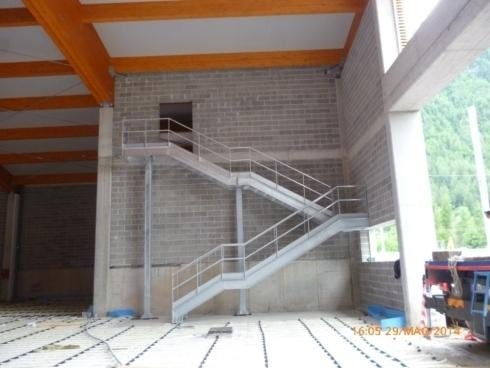 Scala di sicurezza acciaio zincato Trentino Trasporti Croviana2014