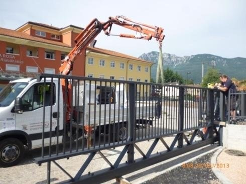Cancello Sospeso L=18.000mm APSS Villa Rosa Pergine 06-2013