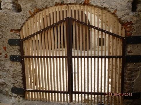 Cancello acciaio -Larice  Castel Beseno