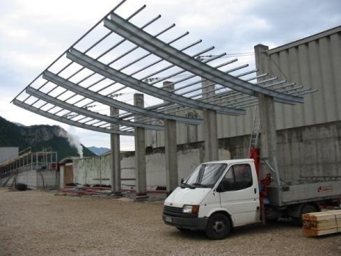 Tettoia Calandrata IPE 330 Cantina CAVIT Trento
