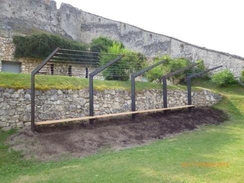 Pergolato inox Fe -legno Castel Beseno
