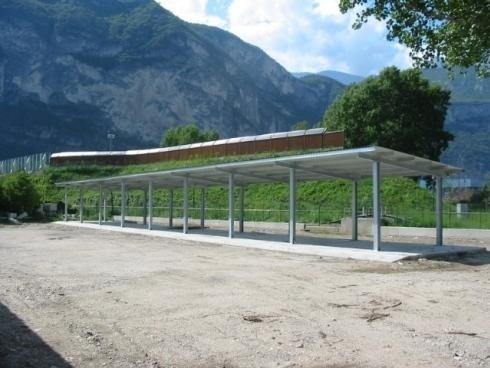 Tettoia Comune di Trento Roncafort anno 2006