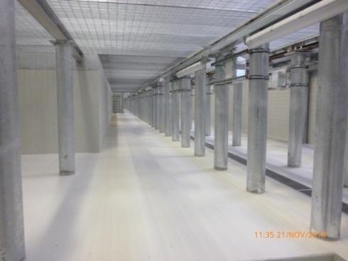 Pali tubo diametro 180x10  sostegno TRENI su fossa manutenzione Croviana 2014