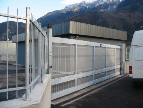 Cancello Depuratore Levico Terme