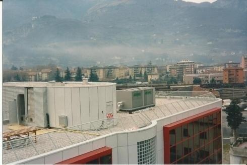 Parapetto in copertura SEAC Trento