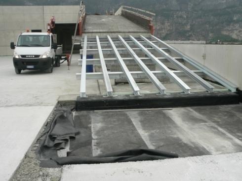 Struttura rampa parcheggi Sandrini Spa Trento anno 2010
