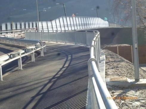 Parapetto Stradale in acciaio zincato IPE100 tubo da 48 SALORNO 11-2013