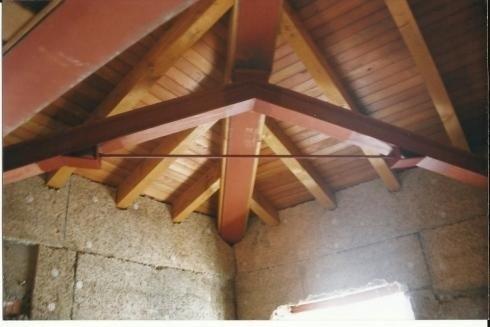 Travi tetto edificio residenziale anno1998 Pergine V