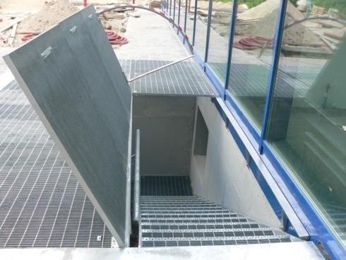 Scala di sicurezza  con grigliato  A 22 Bolzano H20