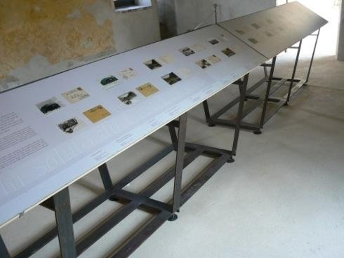 Supporto leggio Acciaio lavorato Castel Beseno 2012