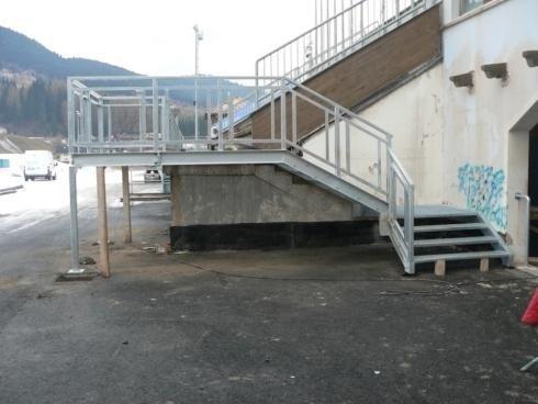 Scala accesso tribune Tesero 2011 MondialiFiemme 2013