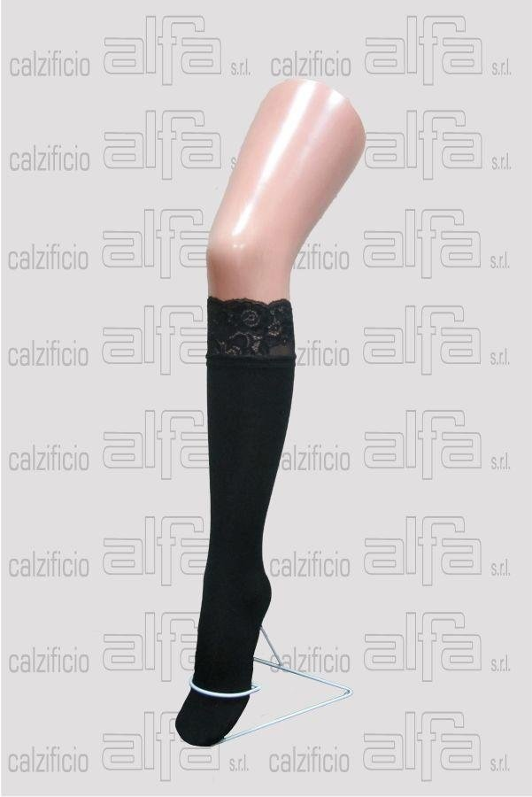 knee-high multi-fibre with lace