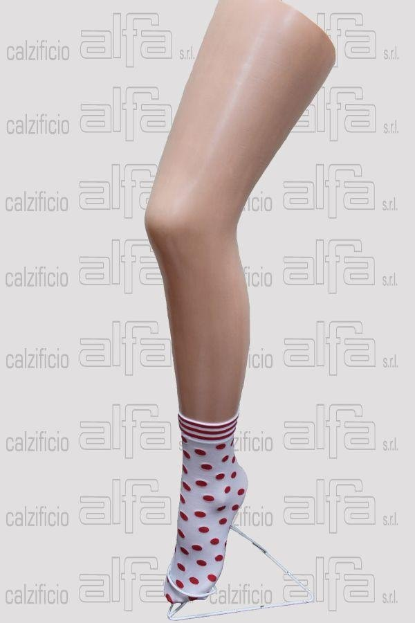 polka dots patterned stocking