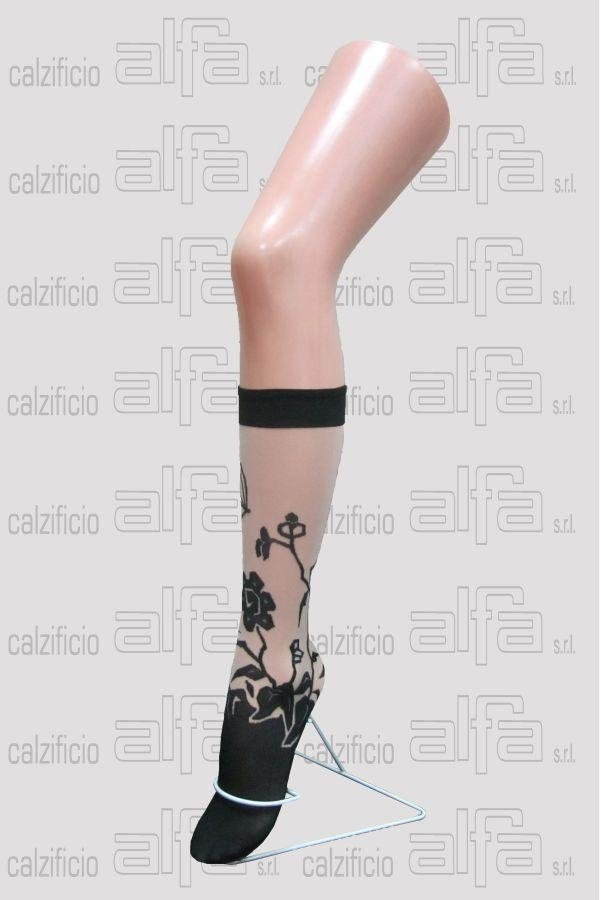 floral knee-highs with elastane