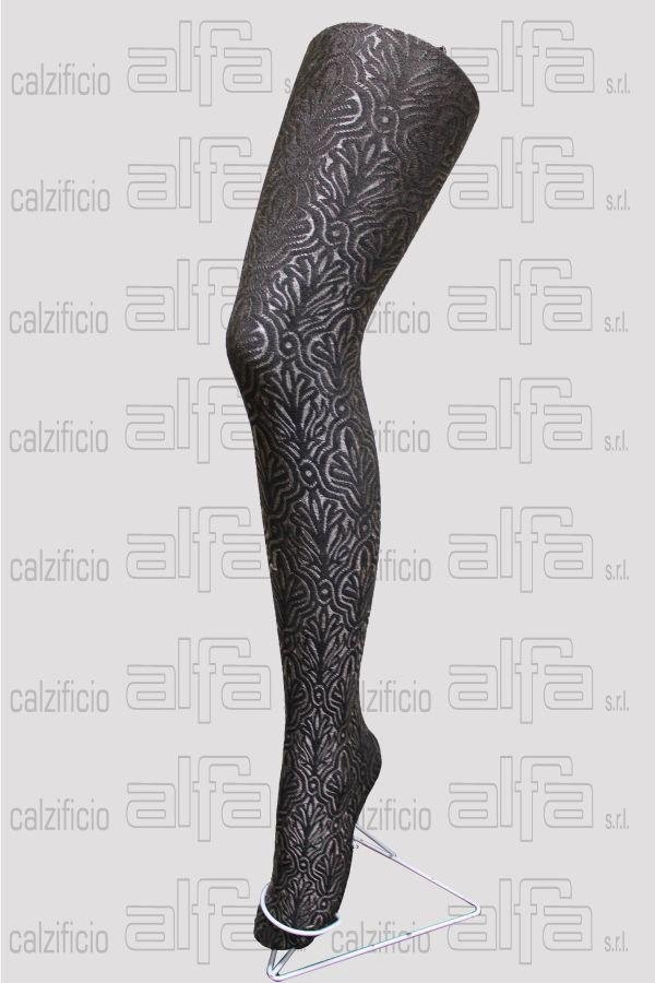 Baroque metal pattern tights