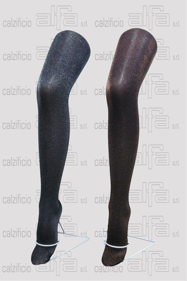 lurex-based tights.