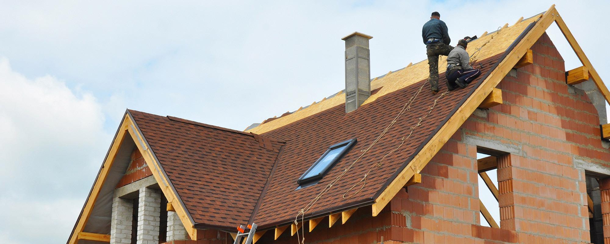 rofessional working on roof repair