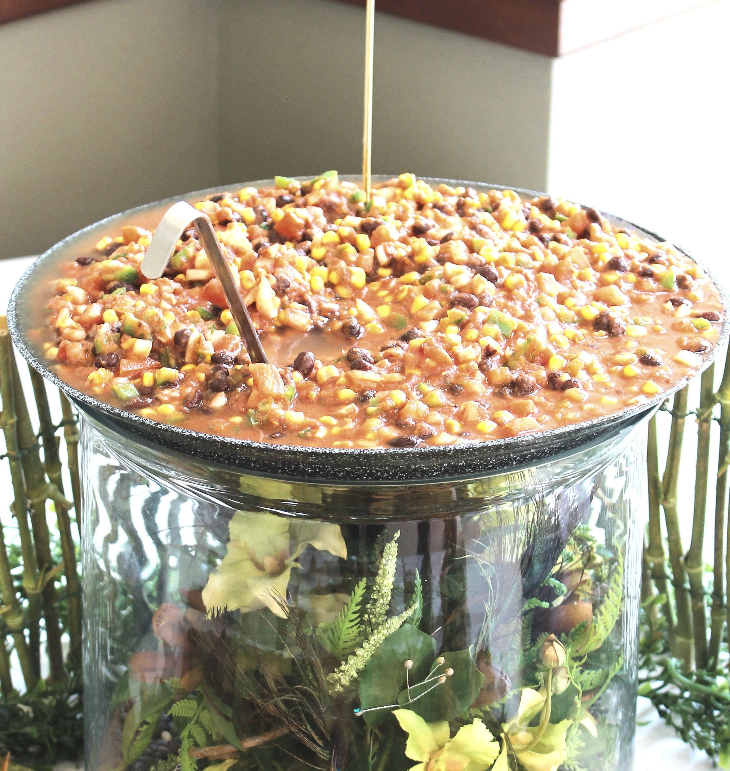 Black Bean Corn Salsa with Gourmet Chips