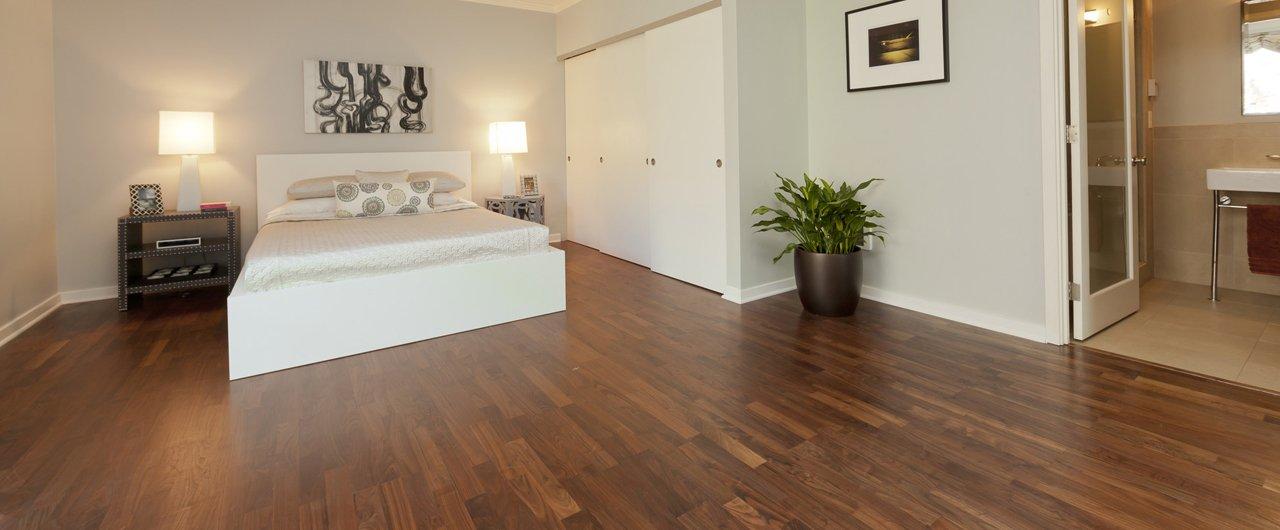 wooden flooring in bedroom