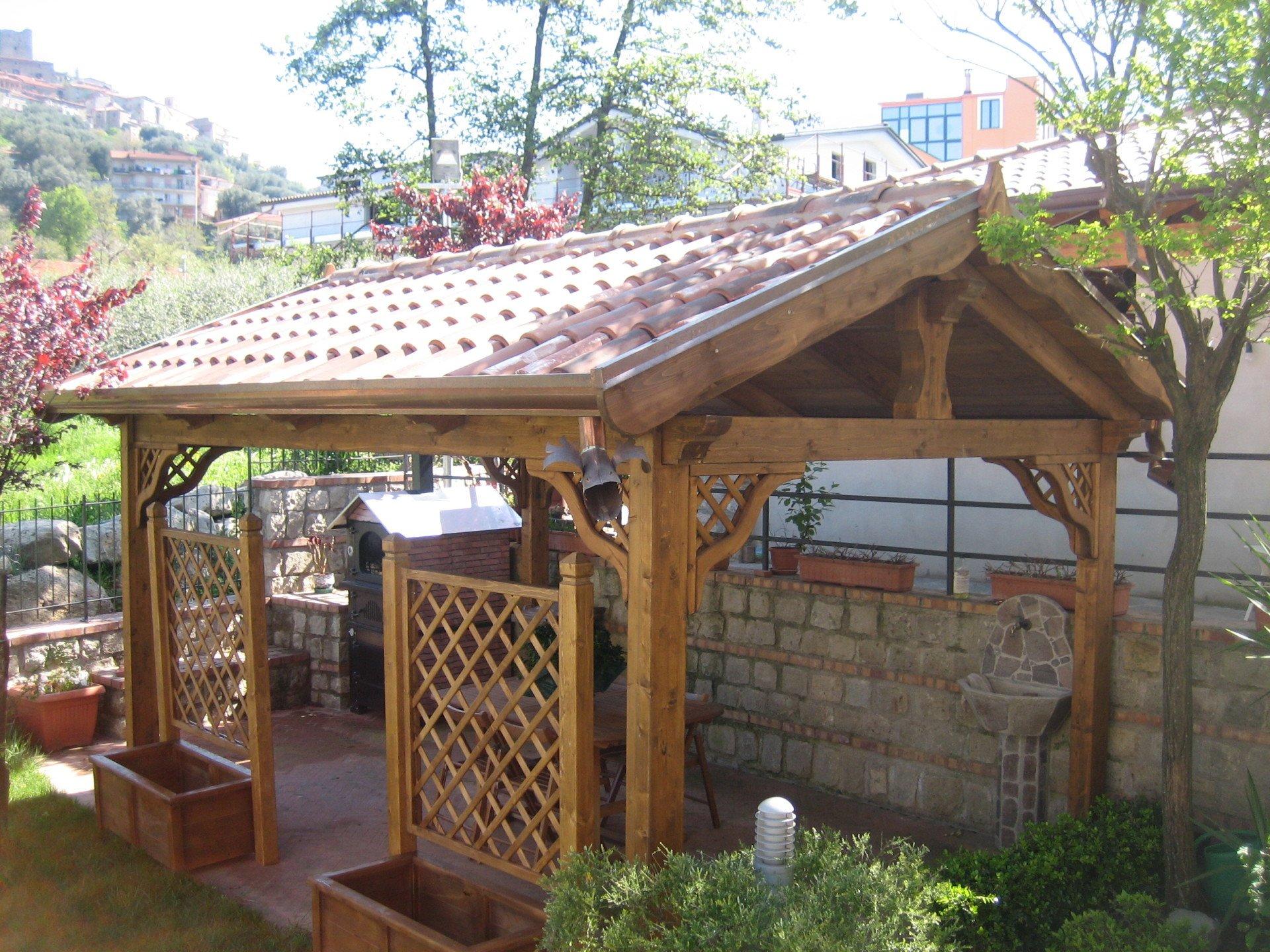Strutture per esterni campagnano di roma rm edilgabrielli for Gazebo in legno usato
