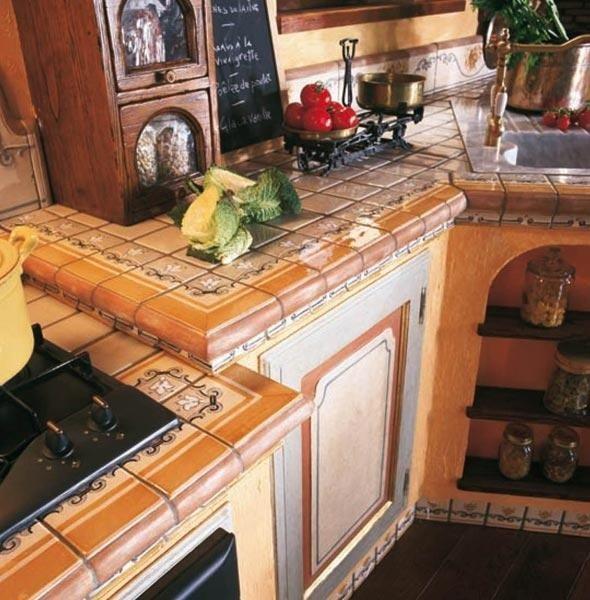 cucina in muratura cotto nettuno