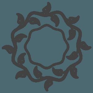 icona corona di fiori