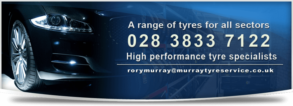 High performance tyres - Portadown - Murray Tyres Ltd - black car