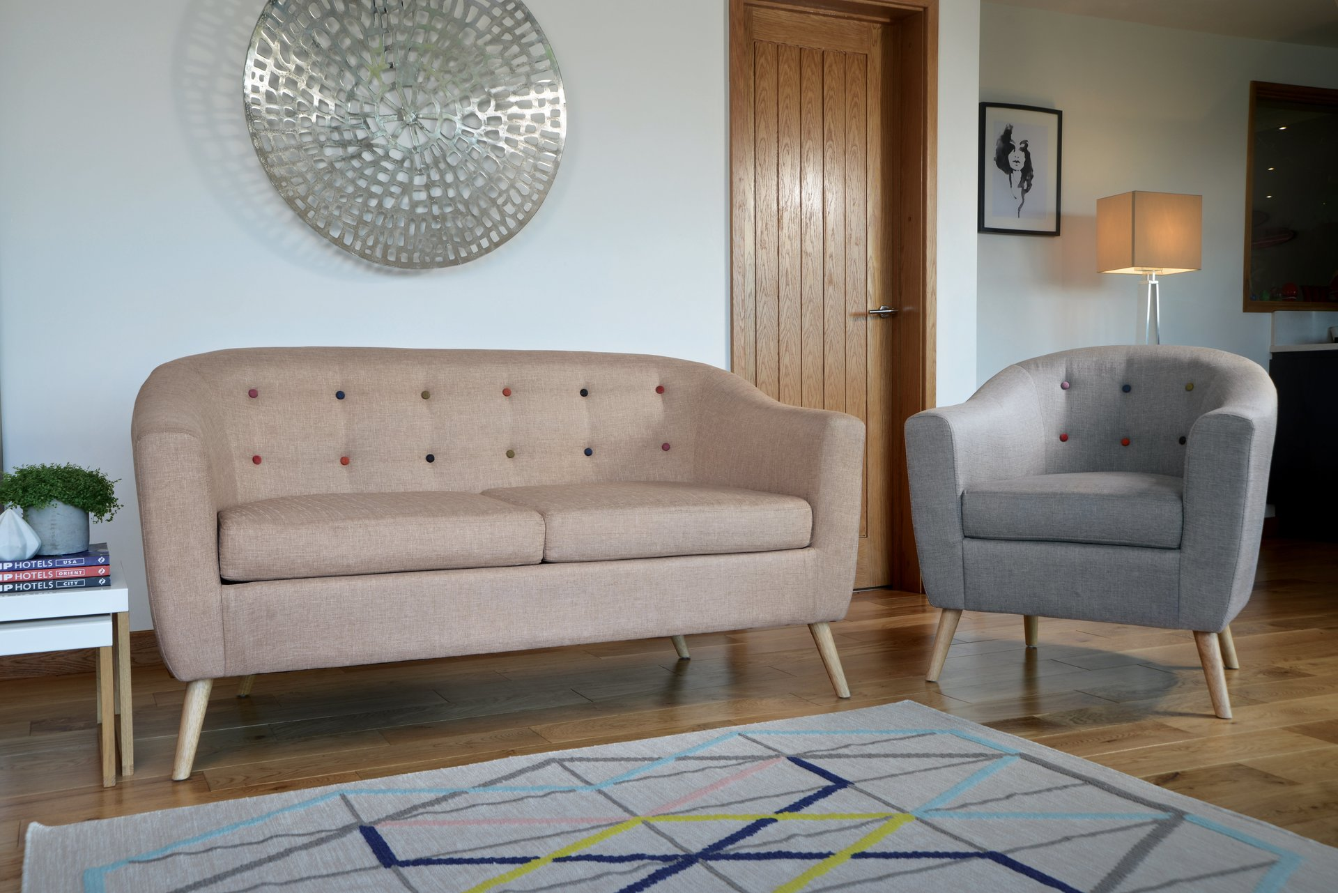 Scandinavian designed 2 seater sofa