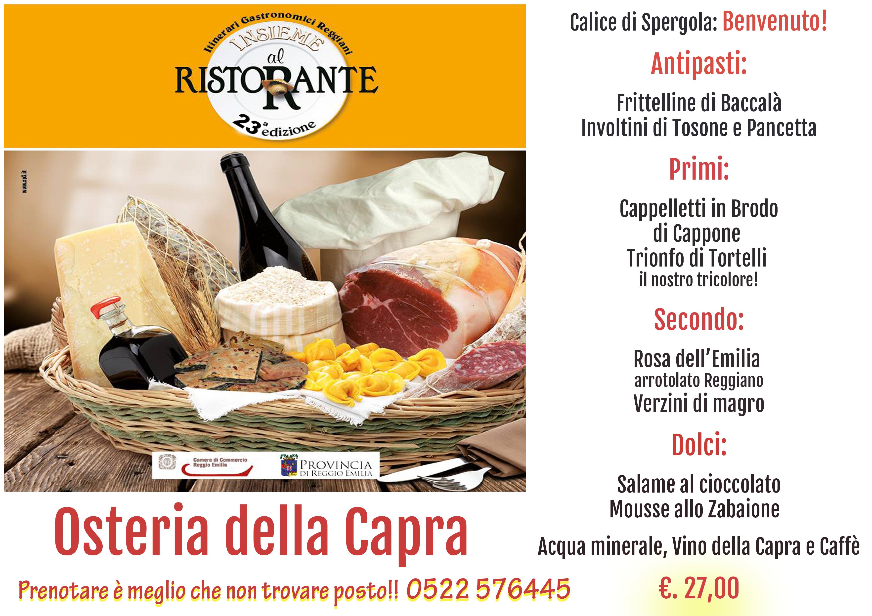 Cucina emiliana reggio emilia osteria della capra - La cucina della capra ...
